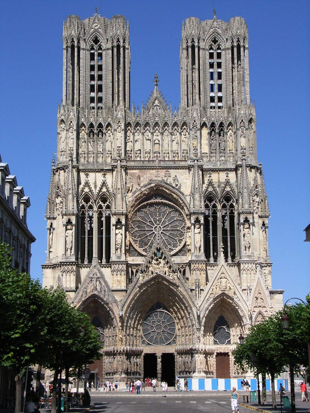Façade of Reims Cathedral, France