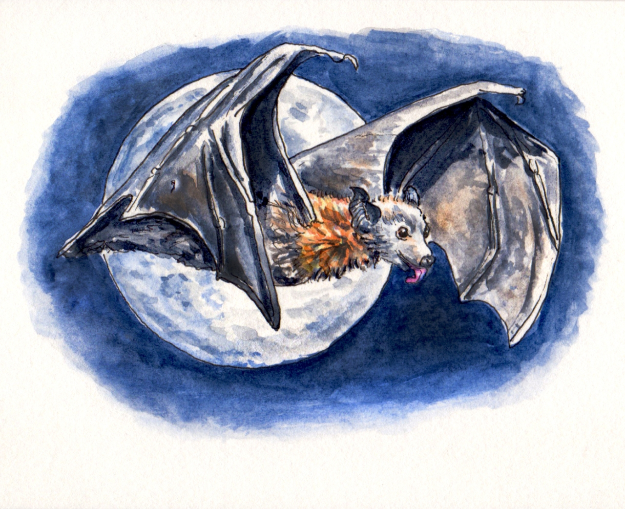 day-27-full-moon-madness-bat-in-front-of-moon-watercolor