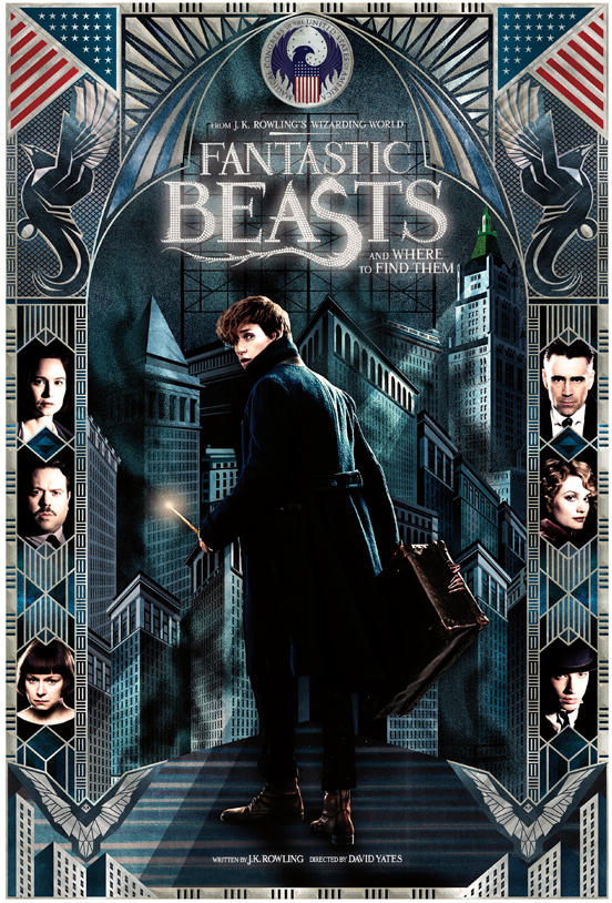 Special release poster designed by Mina Lima for Fantastic Beasts and Where to Find Them