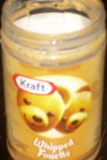 empty jar of kraft whipped peanut butter