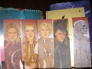 left to right: Darrow, Mustang, Cassius, Sevro, Ragnar