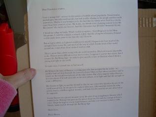 Letter from Pierce