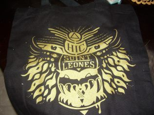 Tote Bag Hic Sunt Leones. Here are Lions