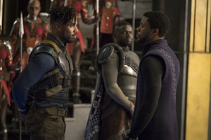 Erik Killmonger N'Jadaka and T'Challa the Black Panther King