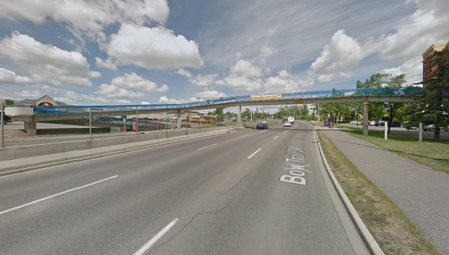 Bow Trail pedestrian overpass bridge as it is now