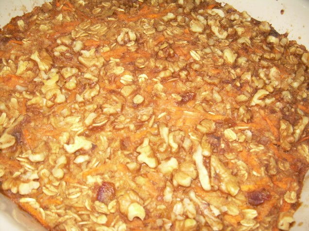Carrot Oatmeal hot out of the oven